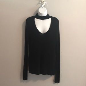 OliVaceous soft choker sweater
